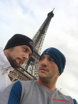 Jordan Motyl et Christophe Pétagna (reconnaissance du parcours running)