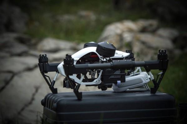 Le drone en attente